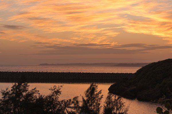 久高島の夕日