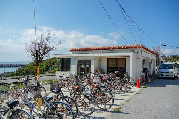 自転車レンタル船待合所